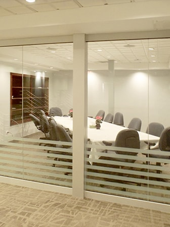 Etched Office Partitions