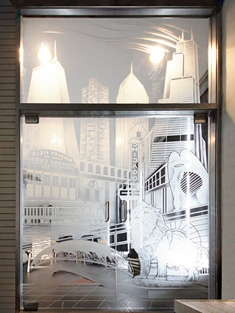 Etched Swing Doors & Glass Walls