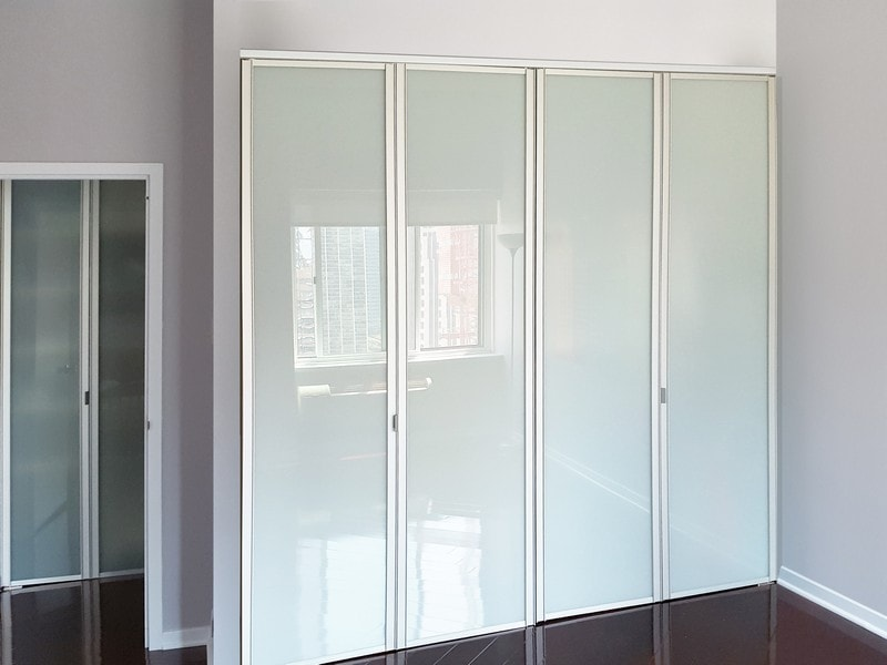 Beau View Larger Image · Sliding Glass Bifold Closet Doors