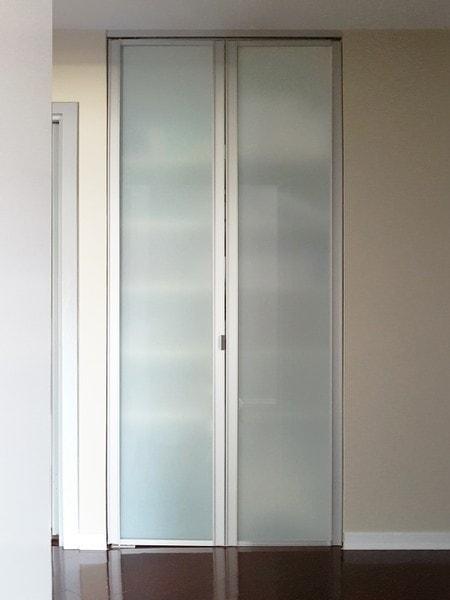 View Larger Image · Sliding Glass Bifold Closet Doors