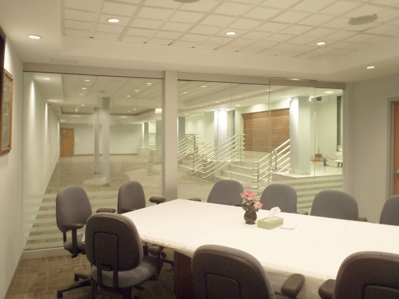 View Larger Image. Office Conference Room Sliding Glass Doors And Interior  ...
