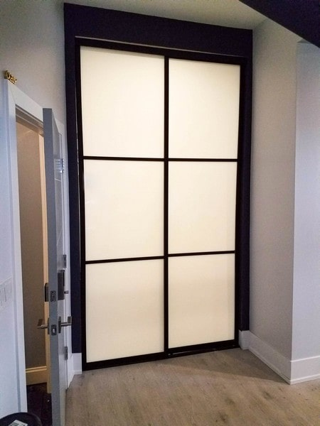 Chicago Glass Frosted Sliding Closet Doors