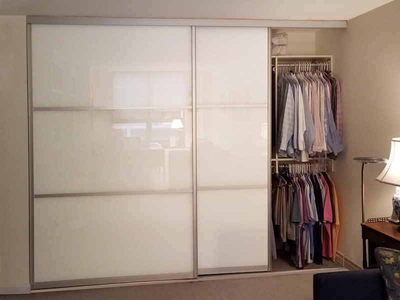 Chicago Glass Back Painted Sliding Closet Doors