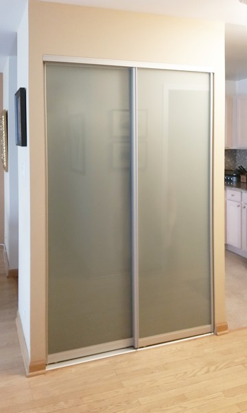 View Larger Image Frosted Sliding Gl Closet Doors