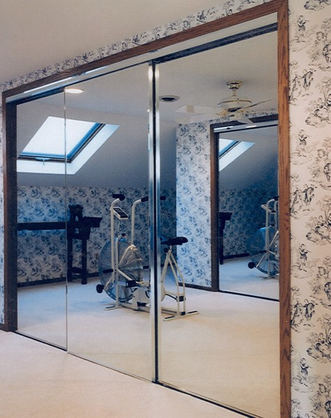 Home Gym Sliding Glass and Architectural Entry Swing Doors