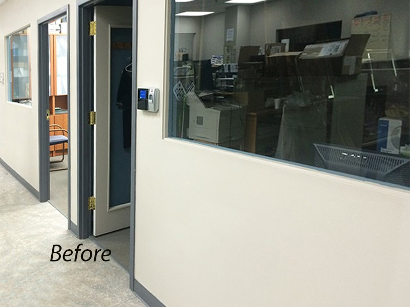 Chicago Glass Sliding Barn Doors with Fixed Panel