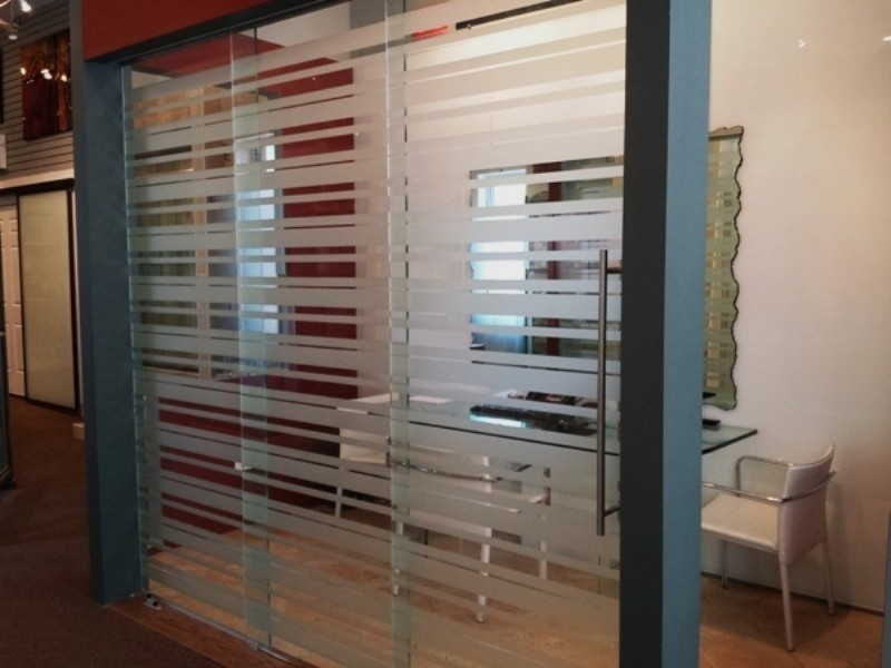 Etched Glass Office Partitions