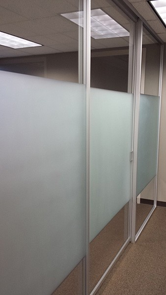 Chicago Glass Etched and Sandblasted Office Partitions