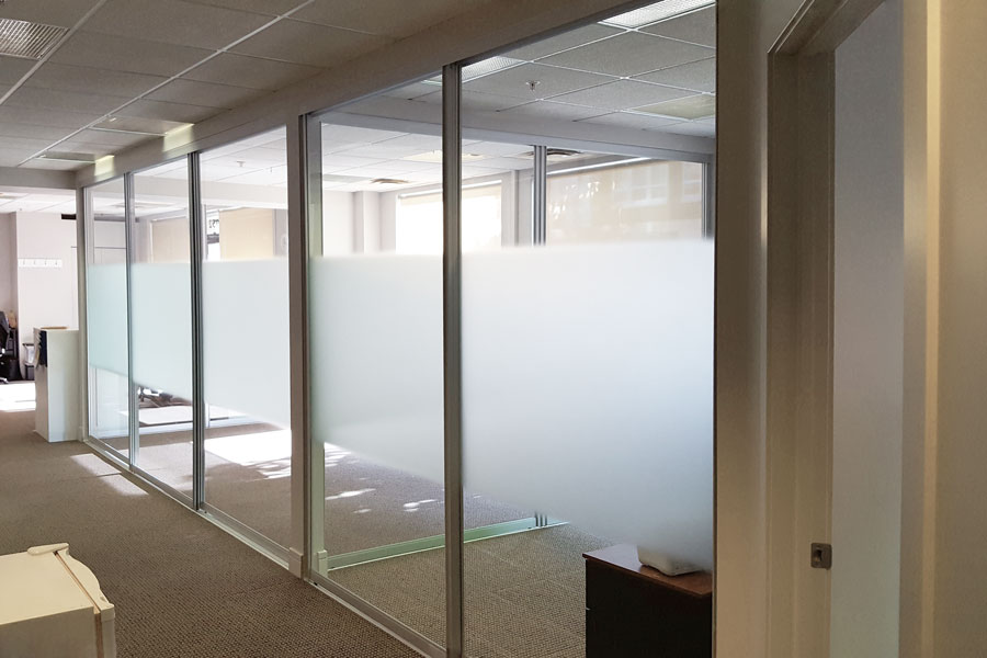 View Larger Image. Sliding Glass Office Partitions